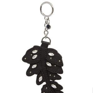 Michael Kors Leaf Bag Charm Black